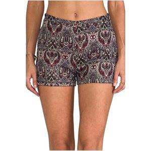 BB Dakota Jack 'Jovita' brocade high rise shorts 4